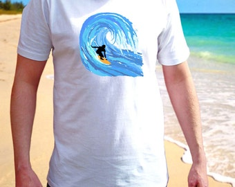 Surf men T-shirt-Anchor-Love Surfing-Summer Beach-Sea-Funny Tee-Surfboard-Gift for him