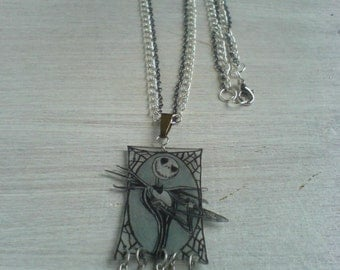 Necklace plastic crazy drawing Mr Jack