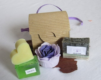 Chest cardboard with natural soaps Tea Tree