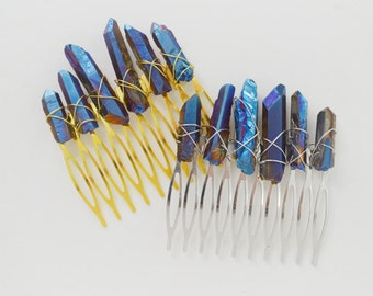 Goddess Hair Comb - Mystic Quartz