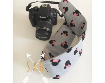 Minnie Mouse camera strap cover