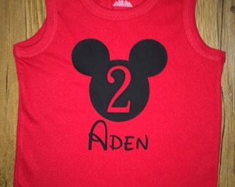Birthday Shirt Mickey or Minnie