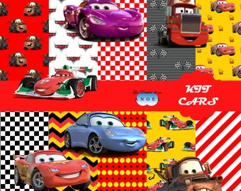 Digital paper kit Fiesta Cars / Cars Digital Papers Clipart