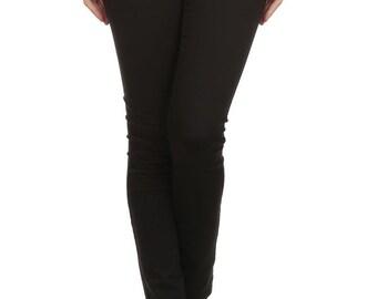 Enjean Women's Slim-Fit Stretch Uniform Pants (Black)