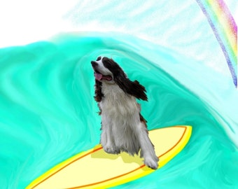 English Springer Spaniel surfer