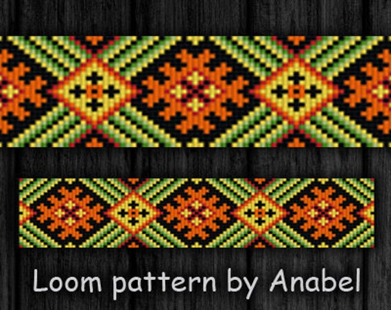 bead loom pattern square stitch pattern loom bracelet pattern