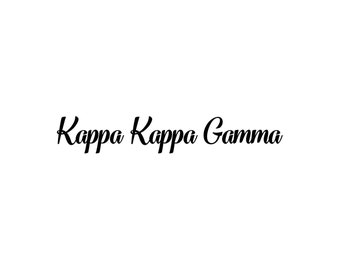 Kappa Kappa Gamma decal vinyl window bumper Sorority greek letters laptop sticker available in 10 different sizes and 30 different colors
