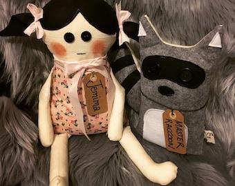 Handmade rag doll Jamima