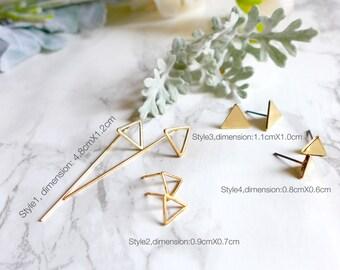 Boucle d'oreille, Bijoux d'oreille minimalist, dissymétrie/symétrie ,petit grand triangle