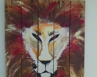 Hand painted Lion