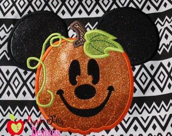 Mouse Pumpkin Applique Design
