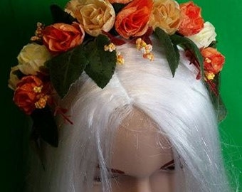 Fairy headress cosplay fairy flowers