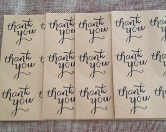 round stickers thank you for gift and Thanksgiving