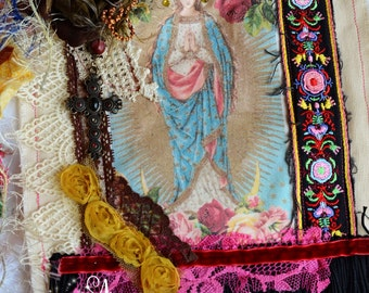 Gypsy Canvas Tote Bohemian Bag Romantic Funky Unique Mary