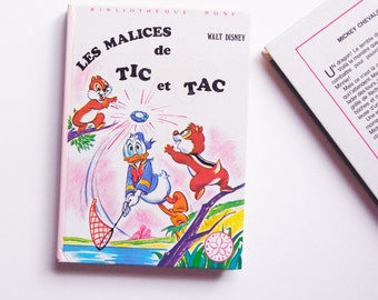 french Vintage Children's Book: the tricks of Tic and Tac / Walt Disney / library Rose. (1980)