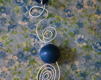 Petrol Blue Swirl