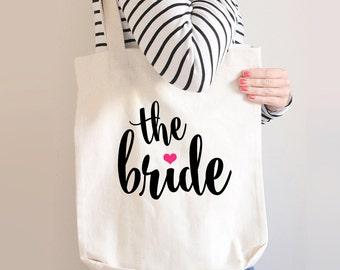 The Bride Tote Bag, Bride Tote Bag, Canvas Bride Bag, Bridal Party Gifts, Bridal Party Gift, Gift For Bride, Gift Idea For Bride, Custom Bag