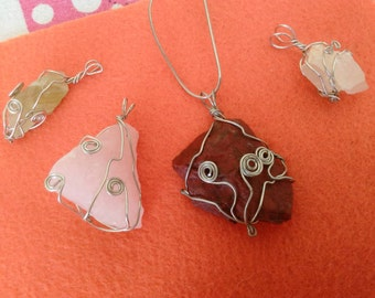 Customized Wire-Wrapped Crystal & Stone