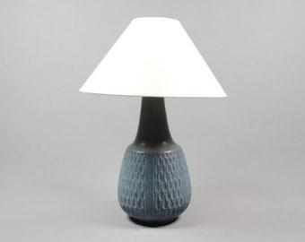Ceramic Table Lamp, blue