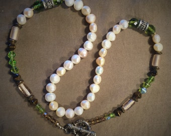 Real Freshwater Pearl and Beaded Necklace