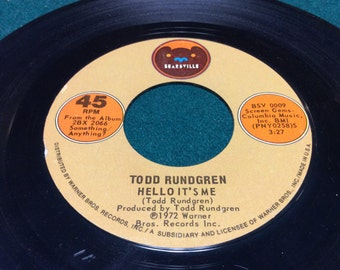 "Todd Rundgren - "" Hello It's Me/Cold Running Light"