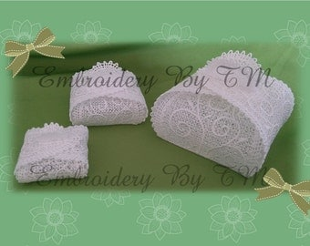 Lace box-three size-very simple-without sewing!!!-original lace design