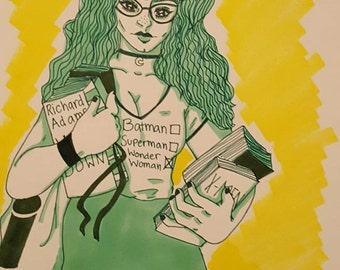 Book Worm Girl