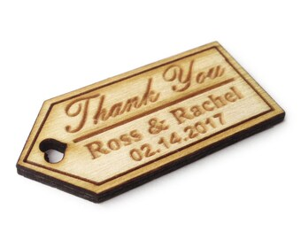 110 Engraved Wooden  Tag, Rustic Decor, Gift Favor Tag, Bridal Shower Tag, Party Favor tags- 118t010-121