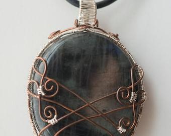 Wrapped Labradorite Pendant
