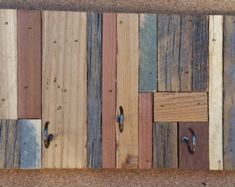 Reclaimed Wood Key/ Necklace Rack