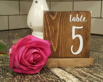 Wedding Table Numbers, Wooden Table Numbers, Painted Table Numbers, Table Numbers, Rustic Wedding Decor, Block Table Numbers, Shabby Chic