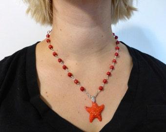 jewelry, necklace, starfish,