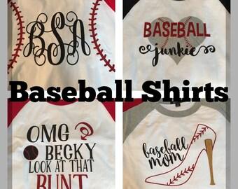 Baseball raglan tee