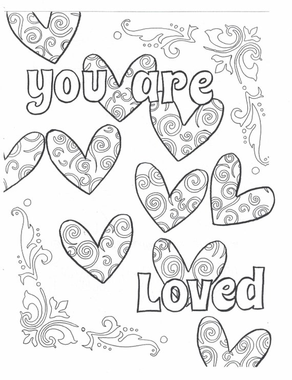You Are Loved Coloring Page