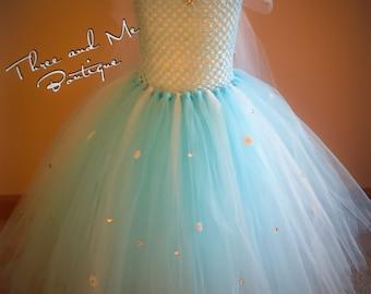 Queen Elsa Inspired Tutu Dress; Frozen Inspired Tutu Dress
