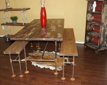 Industrial Farm Dining Table