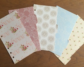 Pastel coloured personal dividers