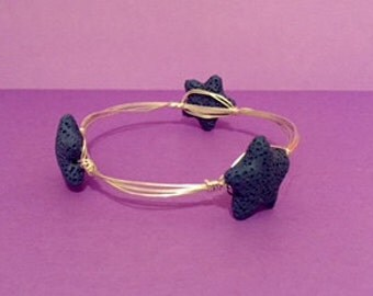 Star Fish Wire Wrapped Bangle
