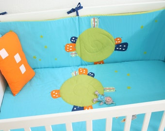 Space cot bumper / baby bumper / crib bumper / baby bedding / nursery decor/ baby shower gift