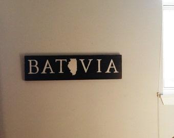 Batavia, Illinois Wall Sign