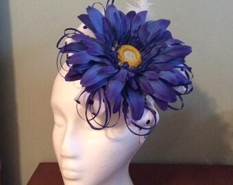 Royal Blue Fascinator Headband