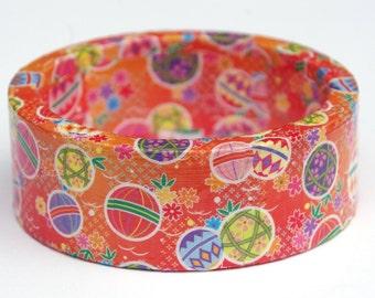 Japanese oriental style decoupage bangle