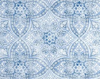 Outdoor Pillow Cover, Blue Outdoor Pillow, Floral Print Pillow, Throw Pillow, Blue and White, Blue Pillow, Modern, Medallion, SummerHome