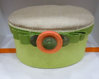 Fabric and buttons box accessory holders
