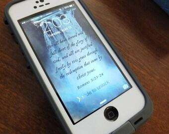 Romans 3:23-24 iPhone Wallpaper