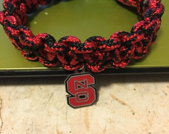 NC State paracord bracelet FREE SHIPING