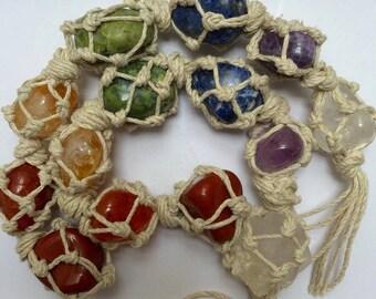 7 Chakra Macrame Gem Chain