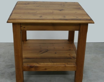 Table square rustic wood Melis