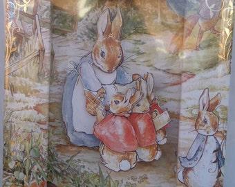 Beatrix Potter decoupage frame card