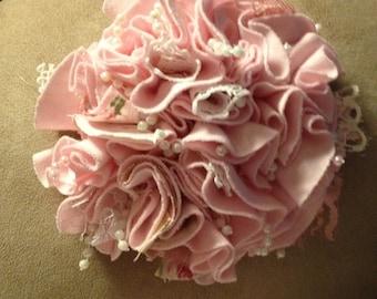 shabby chic fabric rose